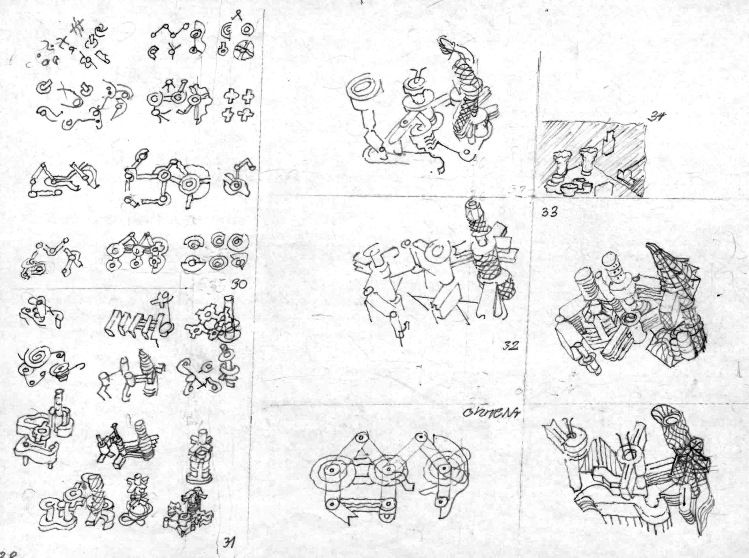 Skizze Aus Der Serie Von 21 Buchillustrationen Uber Interpretationen Architektur Johannes Uhl Architekturmuseum Berlin